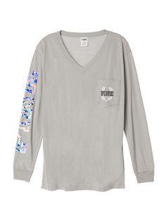 Athletic Long Sleeve Tee PINK JU-330-672 (230) | Victoria' Secret ...