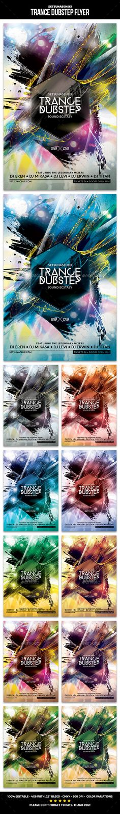 Trance Dubstep Flyer — Photoshop PSD #techno #trance flyer • Available here → https://graphicriver.net/item/trance-dubstep-flyer/12919821?ref=pxcr