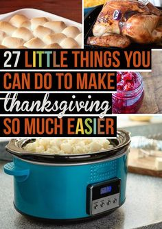 27 Tips and Food Hacks to Make Thanksgiving [and parties in general] Easier #organize #foodprep