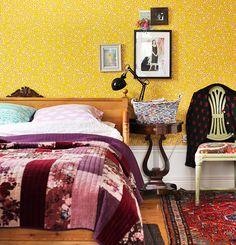 Cozy and colorful. #decor #interior #design #color #modern #casadevalentina