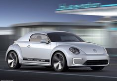 Volkswagen will this week unveil its two-seater E-Bugster electric Beetle concept at the North American International Auto Show. Architectural Digest, Vw Logo, Automobile, Detroit Auto Show, Car Volkswagen, Audi A1, Vw Beetles, Electric Cars, Electric Motor