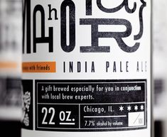 Metaphor IPA label, designed by Justin Soest