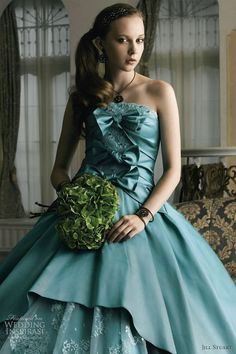 jill stuart wedding dress green