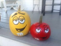 Yellow and red M&M
