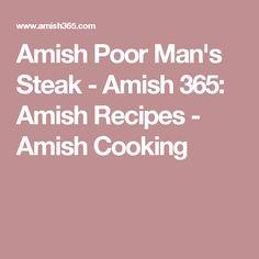 Amish Poor Man's Steak - Amish 365: Amish Recipes - Amish Cooking