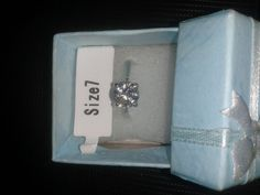 SIZE 7 -1ct Simulated Diamond Engagemant Ring use Swarovski Crystal  #Handmade #PromiseRing Get ready for Valentine's Day give a gift of love! Hurry over to check it out at RFS13 eBay Auctions