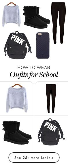 """""""ready for school"""" by kayliho on Polyvore featuring UGG Australia, Victoria's Secret and Tory Burch"""