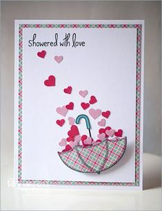 love cards handmade / love cards - love cards for boyfriend - love cards for him - love cards for boyfriend handmade - love cards diy - love cards for girlfriend - love cards handmade - love cards for boyfriend cute ideas Umbrella Cards, Tarjetas Diy, Bridal Shower Cards, Baby Shower Cards, Shower Gifts, Valentine Day Cards, Valentines Design, Holiday Cards, Love Cards