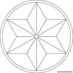 Mandala Vorlage in Sternform