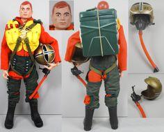 GI Joe 1960s Figure Set Fighter Pilot w Parachute