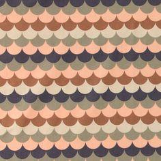 Bomuld m Wave Pattern, Dark Brown, Bomull, Eyeshadow, Crafty, Sewing, Cotton, Fabrics, Patterns