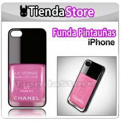 Funda carcasa PINTAUÑAS CHANEL iPhone 4/4S  #fundaiphone4 #fundamovil #iphone4 #apple #iphone4s