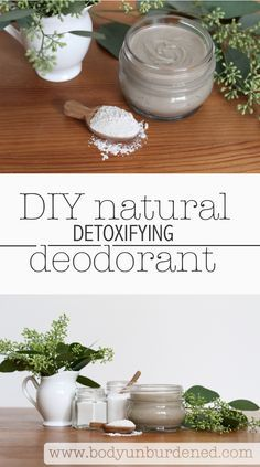 This homemade natural deodorant not only keeps you odor-free but also includes an ingredient (bentonite clay) that actually pulls toxins from the skin. I've been wearing it for years now and still swear by it! [DIY all-natural deodorant, natural skincare, nontoxic]