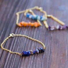 DIY Stone Chip Bead Bracelet