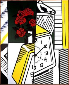 Still Life with Clock and Roses | Roy Lichtenstein | 1975