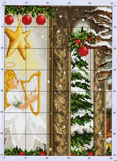 Little Girl in Red 5/6 [Pattern / Chart] [Christmas - Cross Stitch]