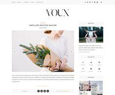 Free blogger templates! // voux responsive blogger theme