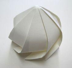 3D Origami by Jun Mitani.  Inspiration.  Looks like a seedpod in my garden.