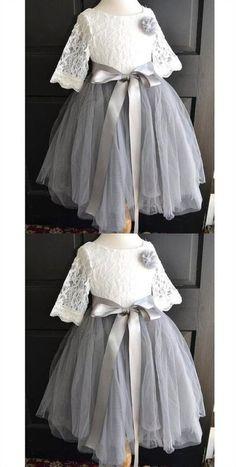 828cf003c 14 Best Grey Flower Girl Dresses images