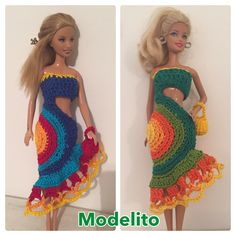 Crochet Barbie Dresses