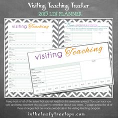 2015 Mothers Who Know Planner  Visiting Teaching Tracker
