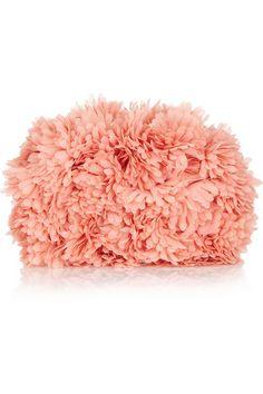 fluffy pink clutch