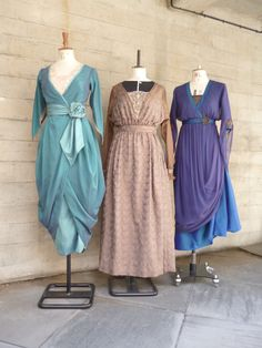 The finished dress can be seen on the left with two other beautiful dresses from The Silver Tassie.