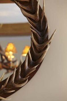 Antler Mirror In Georgian Dining Room Farmhouse Designed By Latham Interiors