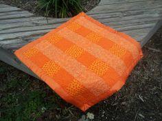 Orange Dreamsicle baby quilt.