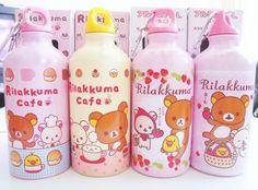 rilakkuma | San-X character Rilakkuma bottles with Kamonohashikamo and Korilakkuma ...