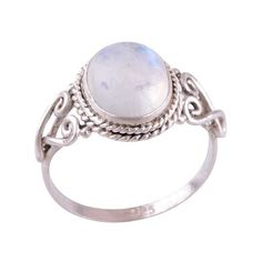 Sterling Silver Rainbow Moonstone Spellbound Ring ($36) ❤ liked on Polyvore featuring jewelry, rings, sterling silver jewellery, rainbow moonstone jewelry, sterling silver jewelry, sterling silver rings and rainbow moonstone ring