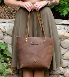 Crazy Horse Leather Tote Bag by Margaret Vera