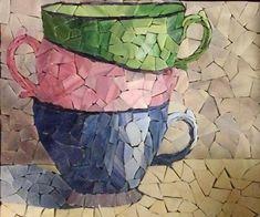 Mosaic Tray, Mosaic Tile Art, Mosaic Pots, Mosaic Artwork, Pebble Mosaic, Mosaic Garden, Mosaic Crafts, Mosaic Projects, Stone Mosaic