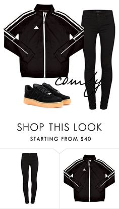 """""""Untitled #720"""" by aaisha123 ❤ liked on Polyvore featuring J Brand, adidas and NIKE"""