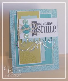 Card by Amber Hight using Verve Stamps.  #vervestamps