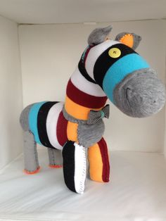 Sock zebra doll