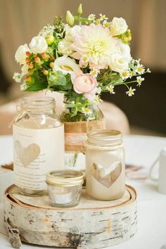 Diy vintage wedding centerpieces ways diy rustic wedding decor ideas Rustic Wedding Centerpieces, Wedding Reception Decorations, Rustic Weddings, Outdoor Weddings, Indian Weddings, Romantic Weddings, Table Wedding, Centerpiece Ideas, Vintage Weddings