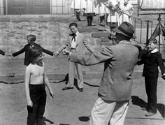 John Ford training Roddy McDowall on the set of How Green Was My Valley, 1941. #DirectedbyJohnFord