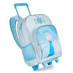 Disney - Frozen Elsa Rolling Backpack - New Little Girl Toys, Toys For Girls, Bolo Rapunzel, Girls Luggage, Rolling Backpack, Rolling Bag, Frozen Bedroom, Minnie Mouse Toys, Frozen Merchandise