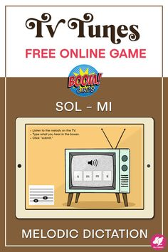 A fun FREE web-based mi-sol melodic dictation activity for kids! So easy a 1st grader can play! TV Tunes takes solfege review and turns it into a game for your music class. These Boom Cards work with Google Classroom and other educational platforms. They can also be printed as worksheets for a no-tech centers game for your lesson plans or for music sub plans. This solfa freebie is a great tool for online distance learning, and you can play on any device just by sending a link! #sillyomusic Music Class, Music Mix, Music Teachers, Music Lessons, Primary Lessons, Art Lessons, Music Education Activities, Elementary Music, Elementary Education