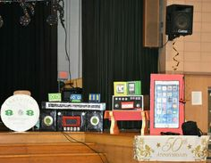 Cardboard music props