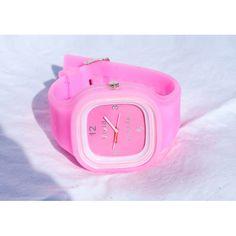 fun bubble-gum pink watch...