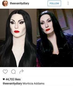 Likes, 141 Comments - Makeup Addams Family Costumes, Family Halloween Costumes, Couple Halloween, Halloween 2019, Halloween Party, Couple Costumes, Maquillaje Halloween, Halloween Makeup, Morticia Addams Makeup