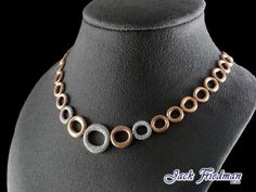 14RG Round Link and Diamond Chocker. Exquisite and matches any outfit. Inquire about this chocker online or in stores. Amelia@jackfriedman.co.za.................. #chocker #diamonds #microsetting #rosegold #linkchocker #jackfriedman Beaded Necklace, Necklaces, Chocker, Amelia, Jewelry Collection, Fine Jewelry, Diamonds, Jewelry Design, Rose Gold