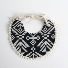 Beautiful hand made and reversible aztec bib from Billybibs!