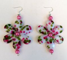 Pertty in Pink Necklace & Earrings by bbcreations on Etsy, $20.00