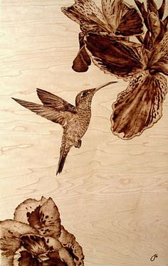 If It's Hip, It's Here: Burn Wood, Baby, Burn. The Incredible Pyrographic Art of Julie Bender. Wood Burning Tips, Wood Burning Techniques, Wood Burning Crafts, Wood Burning Patterns, Wood Patterns, Wood Crafts, Pyrography Designs, Pyrography Patterns, Wood Burn Designs