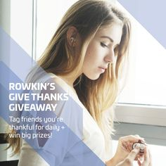 It's the season for giving! Enter Rowkin's Give Thanks Giveaway and get headphones for free. Check it out: https://www.rowkin.com/thanks-giveaway