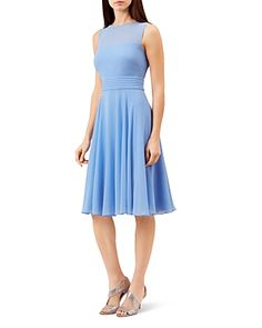 HOBBS LONDON ASHLING PLEATED A-LINE DRESS. #hobbslondon #cloth #