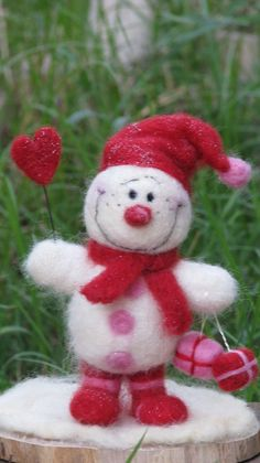 A snowman welcoming Christmas make to order by Made4uByMagic, $55.00